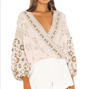 Free people Harmony Embroidered blouse